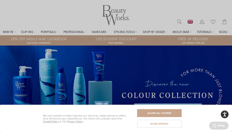Beauty Works Online website screenshot