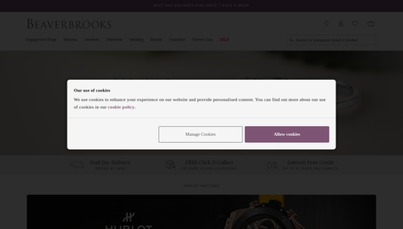 Beaverbrooks website