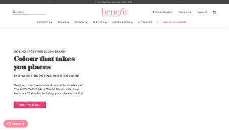 Benefit Cosmetics UK website