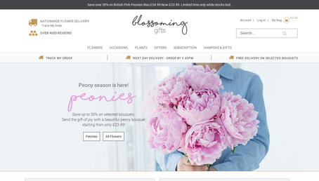 Blossoming Flowers and Gifts website