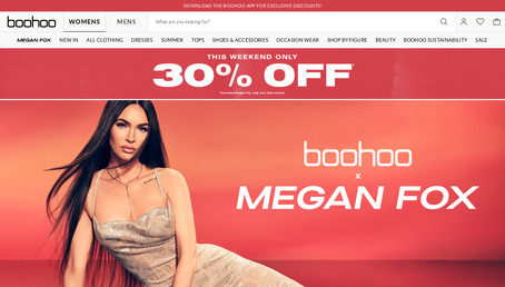 Boohoo.com UK website screenshot