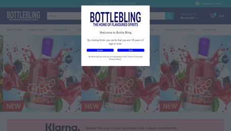 Bottle Bling website