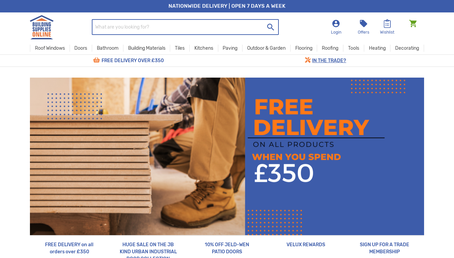 Building Supplies Online website screenshot