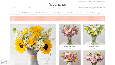 Bunches.co.uk website
