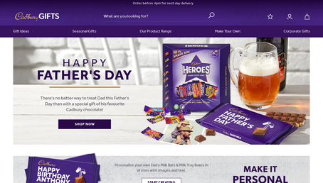 Cadbury Gifts Direct website
