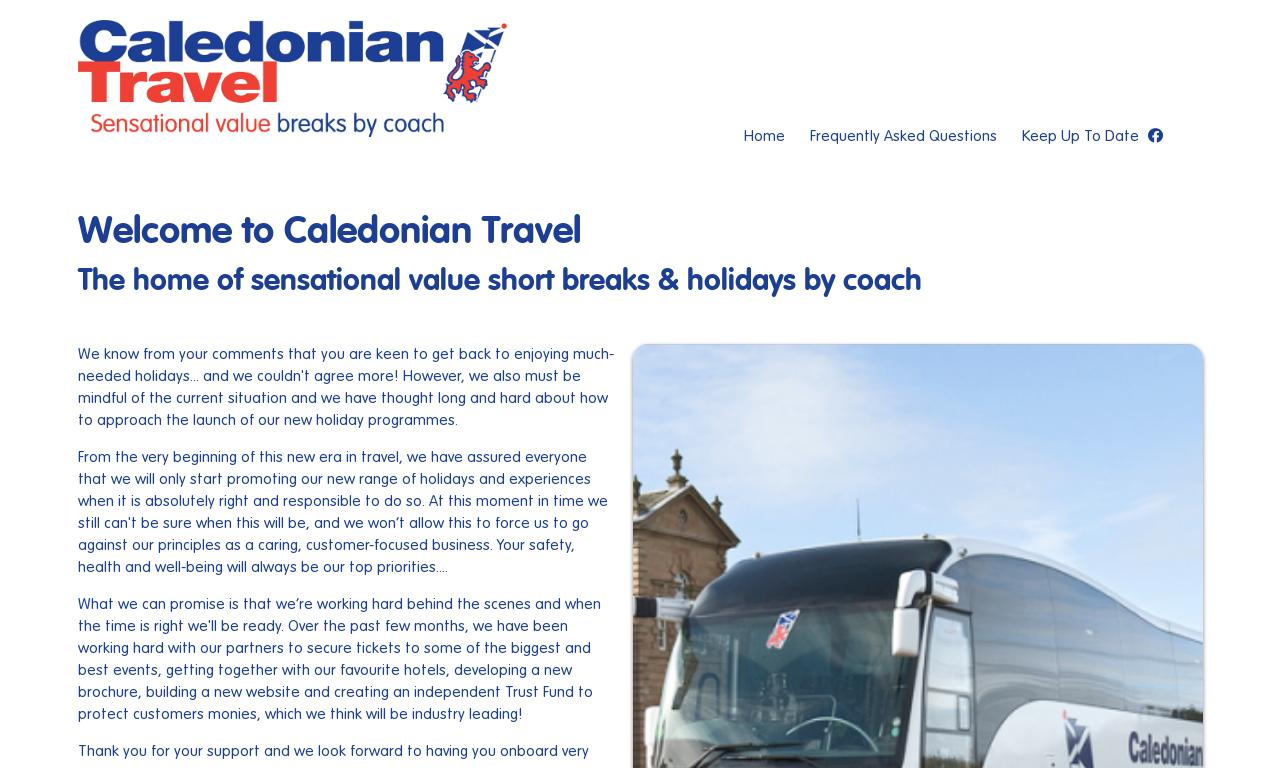 Caledonian Travel website screenshot