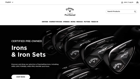 Callaway Golf Preowned website