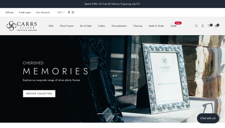Carrs Silver website
