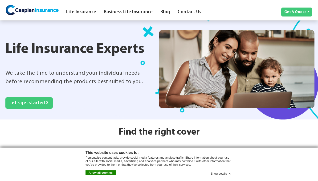 Caspian Insurance website