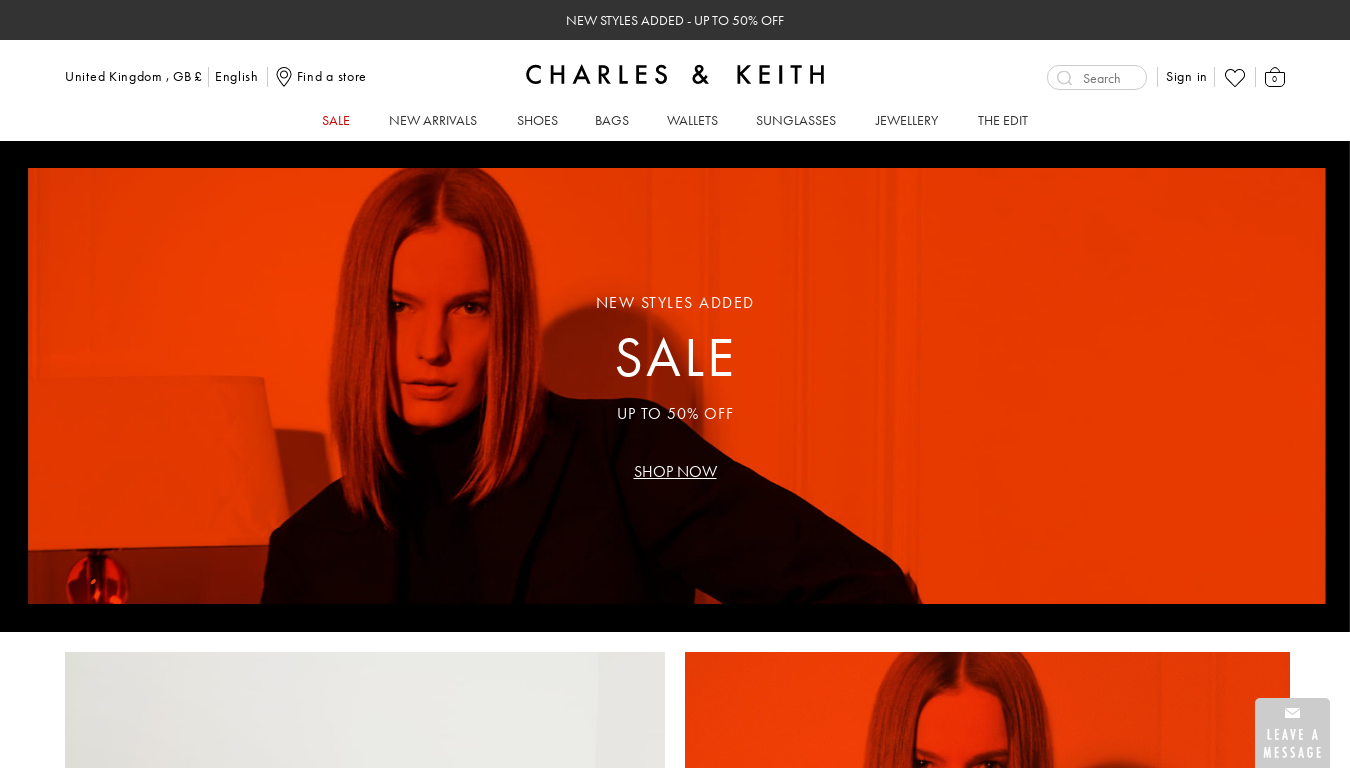 Charles & Keith website