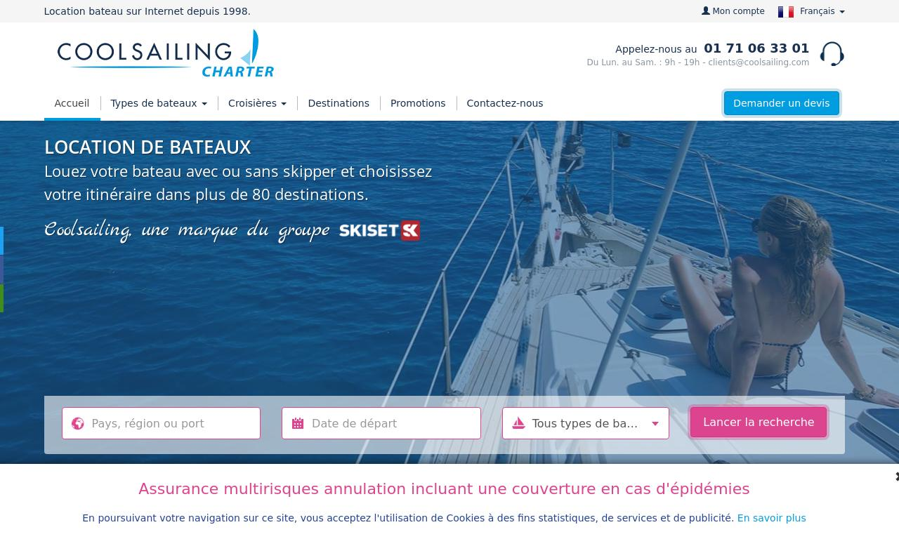 Cool Sailing website