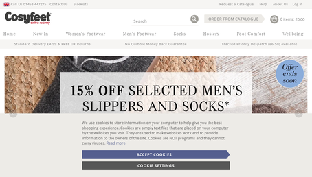 Cosyfeet website screenshot