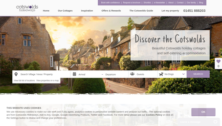 Cotswolds Hideaways website