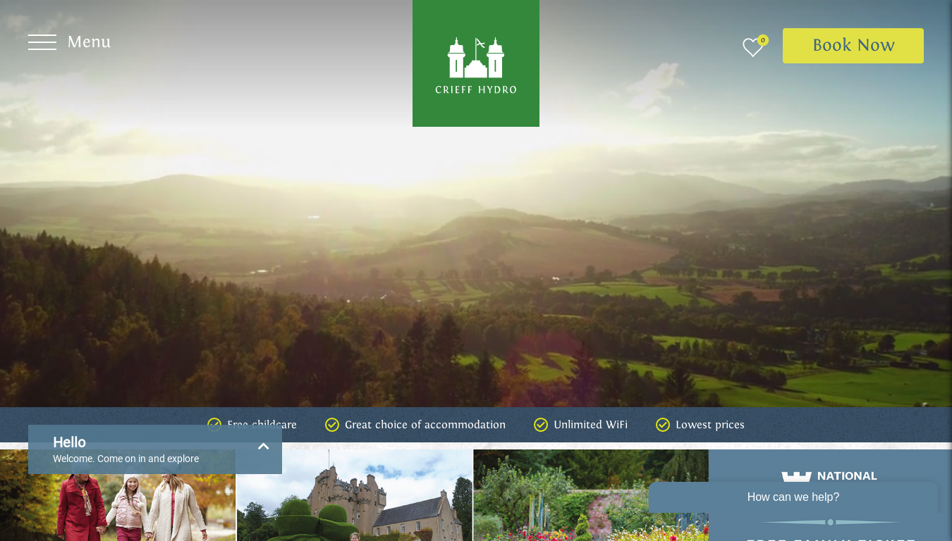 Crieff Hydro Hotel & Resort website