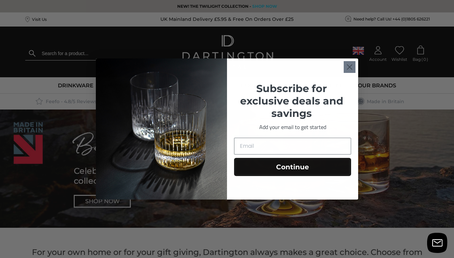 Dartington Crystal website