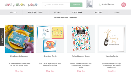Dotty about paper website