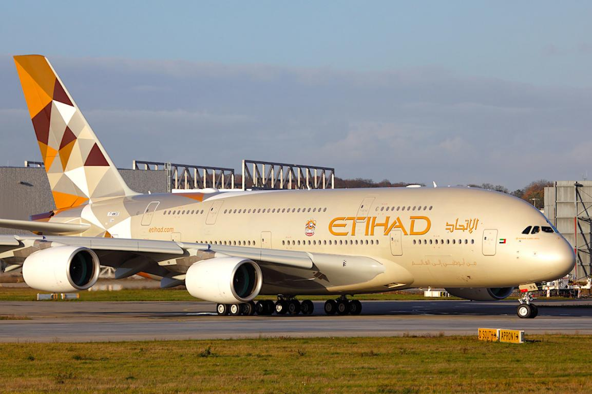 Etihad Airways UK website