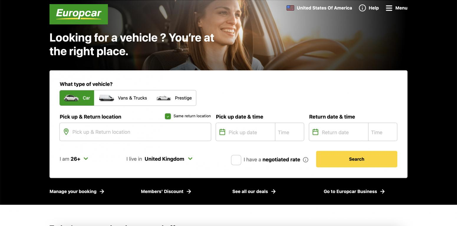 Europcar International Uk And Ireland Cashback Promo Codes And