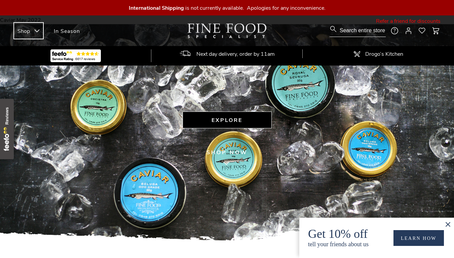 Fine Food Specialist UK website screenshot
