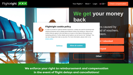 Flightright UK website