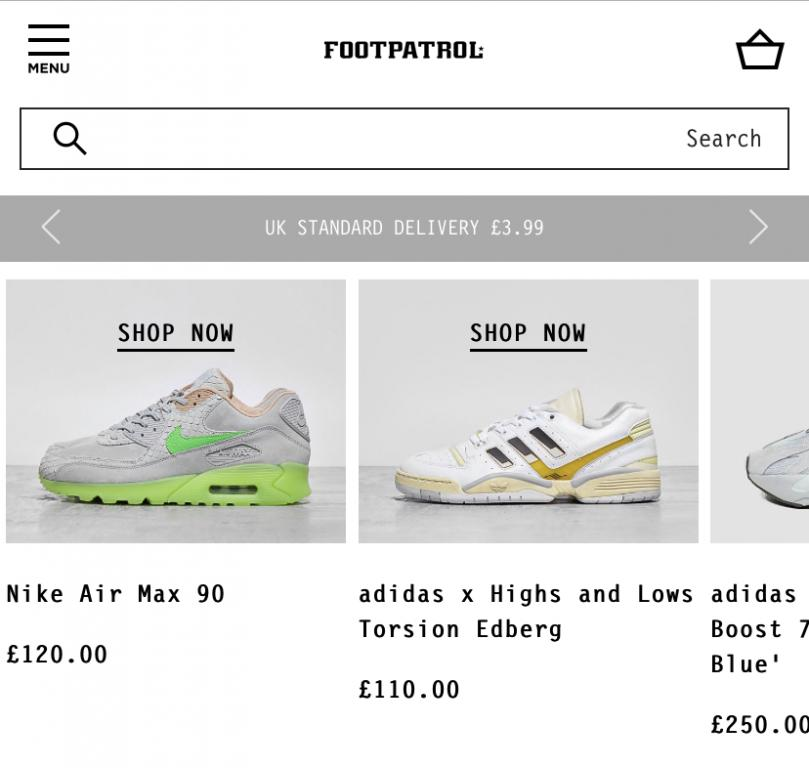 Footpatrol website screenshot