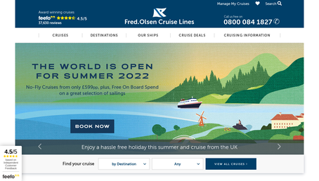 Fred Olsen Cruise Lines website