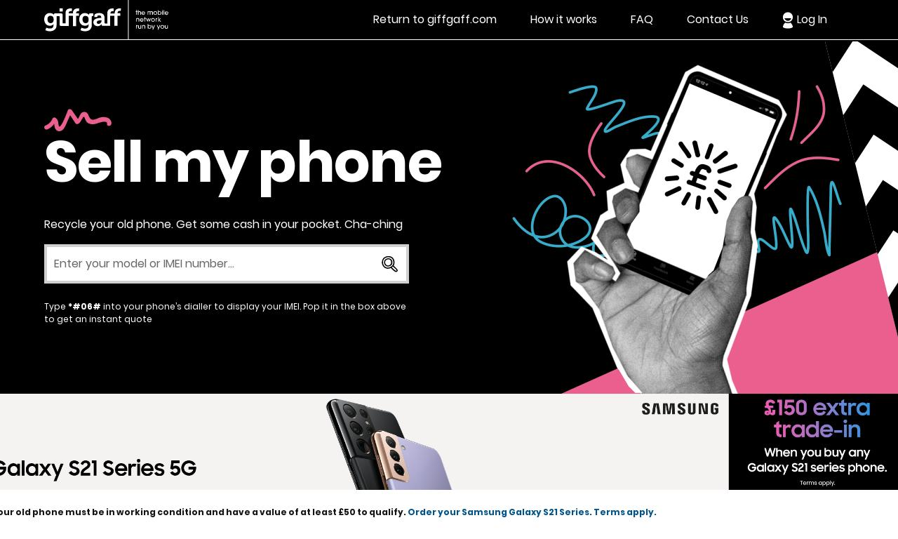 Giffgaff Recycle website screenshot