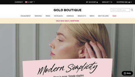 Gold Boutique website