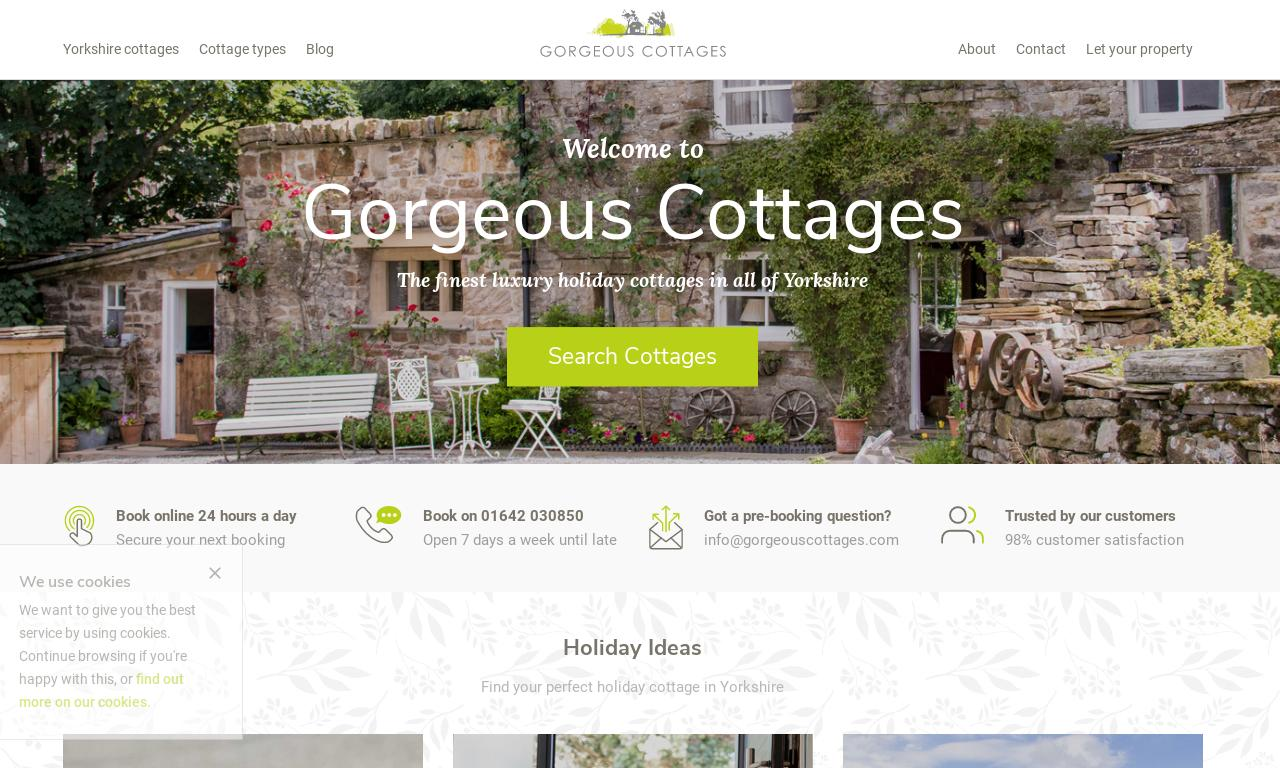 Gorgeous Cottages website screenshot