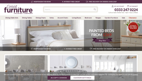 Great Furniture Trading Company website