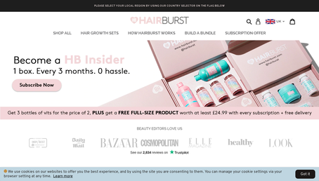 Hair Burst Limited website