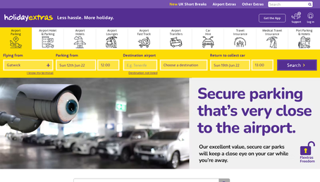 Holiday Extras website