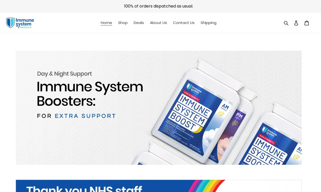 Immune System Products website