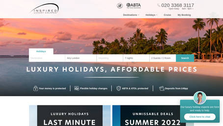 Inspired Luxury Escapes website