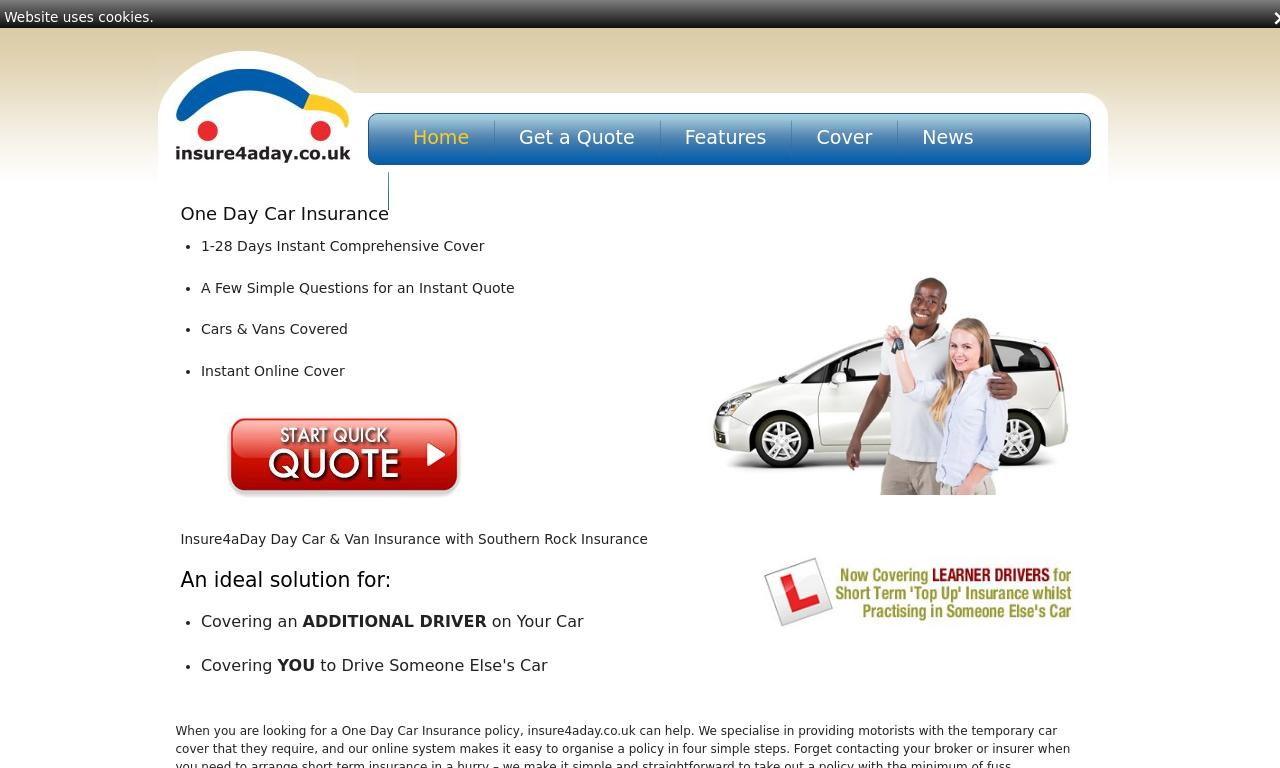 Insure 4 a Day website