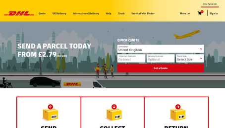 DHL Parcel UK website