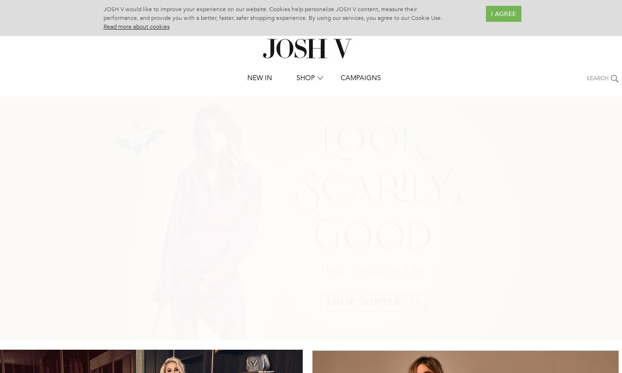 Josh V UK website screenshot