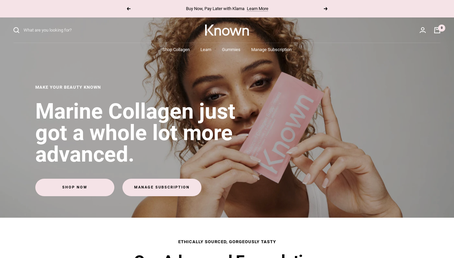 Known Nutrition website
