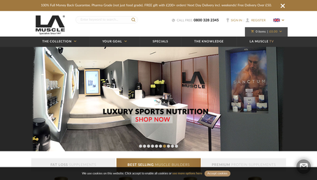 LA Muscle website screenshot