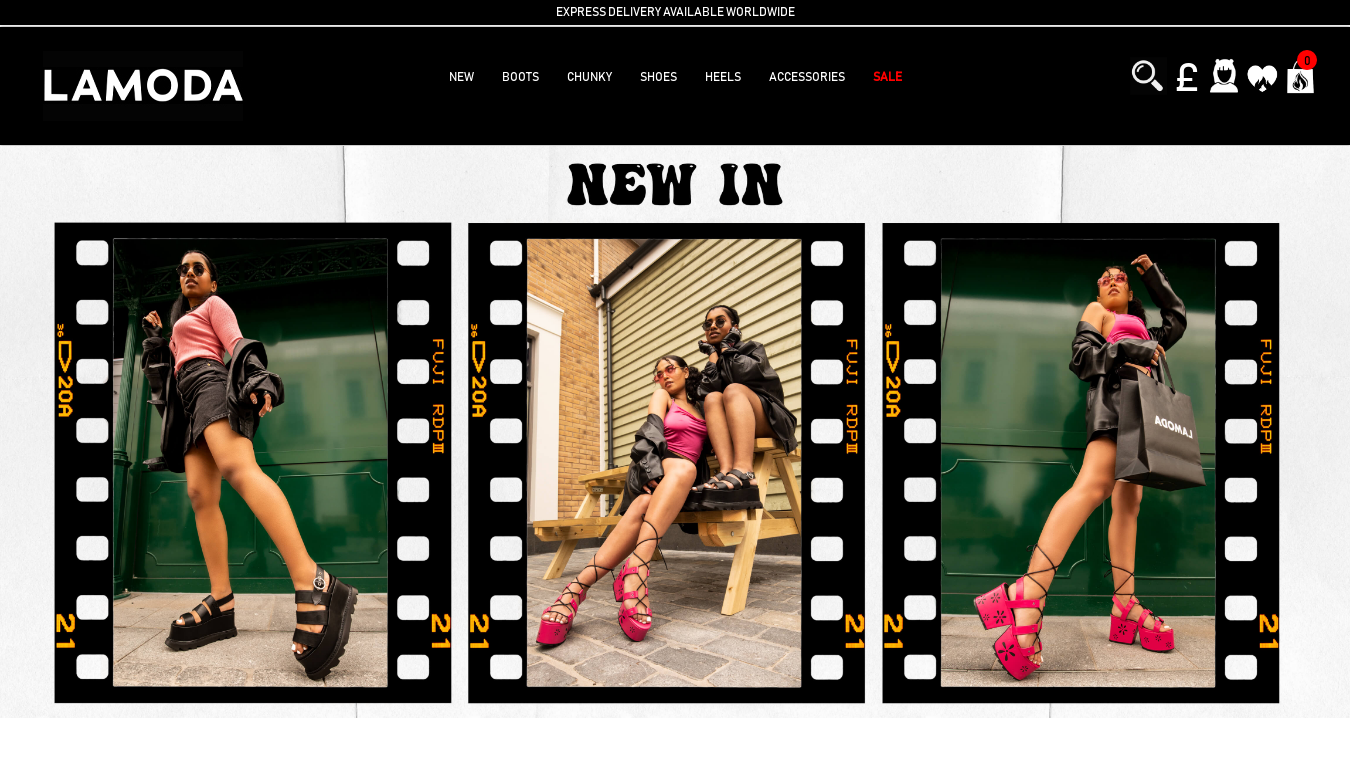 Lamoda Fashion website screenshot
