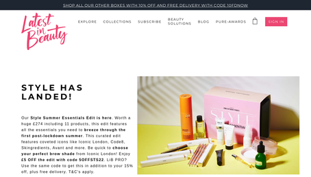 Latest in Beauty website