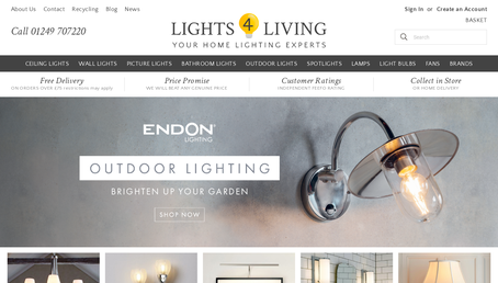 Lights 4 Living website screenshot