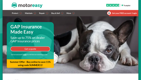 Motoreasy GAP insurance website