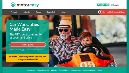 MotorEasy Warranty Insurance website