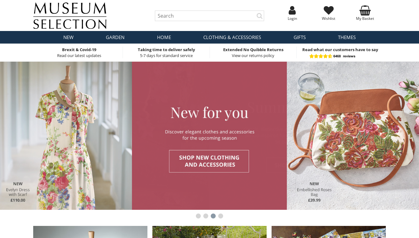 Museum Selection website