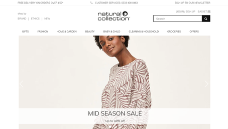 Natural Collection website screenshot