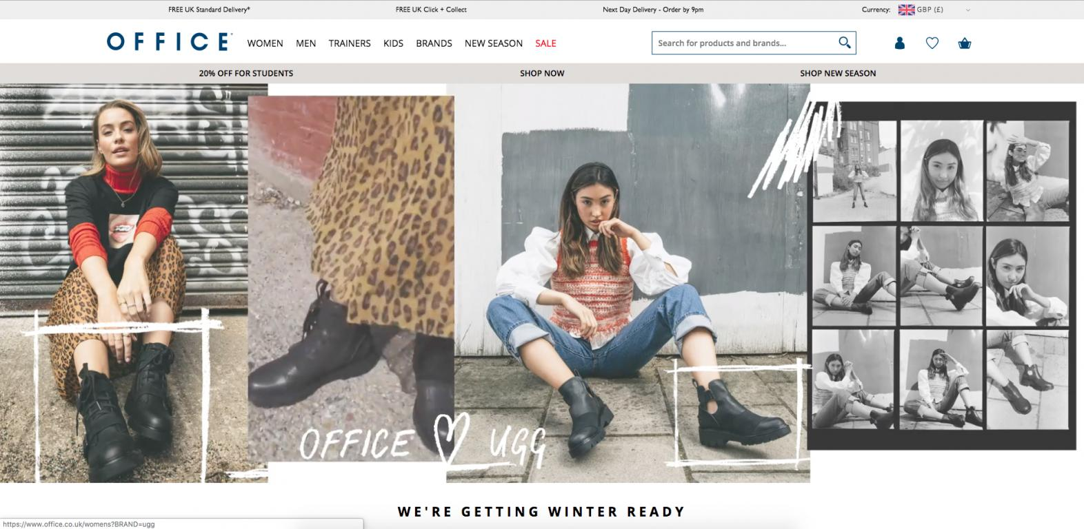 Office Shoes website