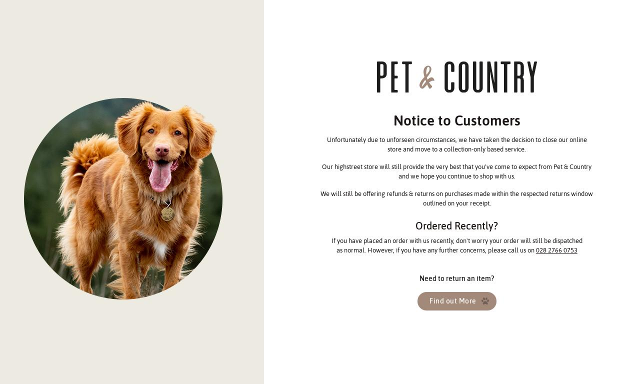 Pet and Country website