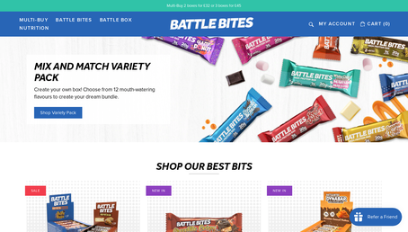 Battle Bites website