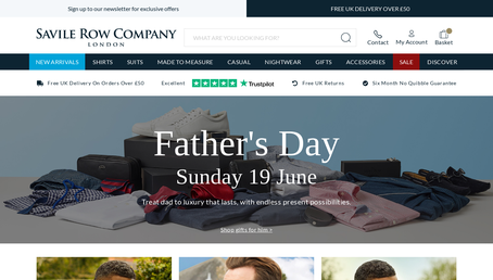Savile Row Company Ltd website